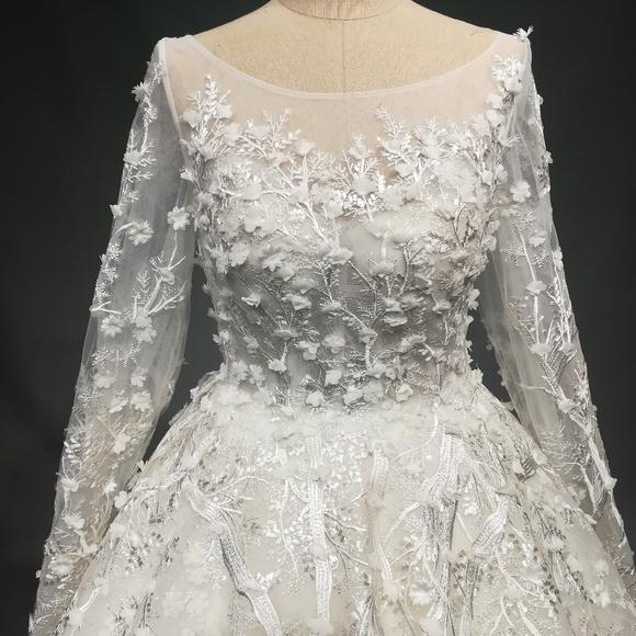 23562a55db Dresses | Darius Cordell Long Sleeve Plus Size Wedding Gown | Poshmark